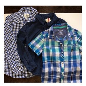 Other - 2= Long Sleeve & 1= Short Boys Button Up Size 7/8